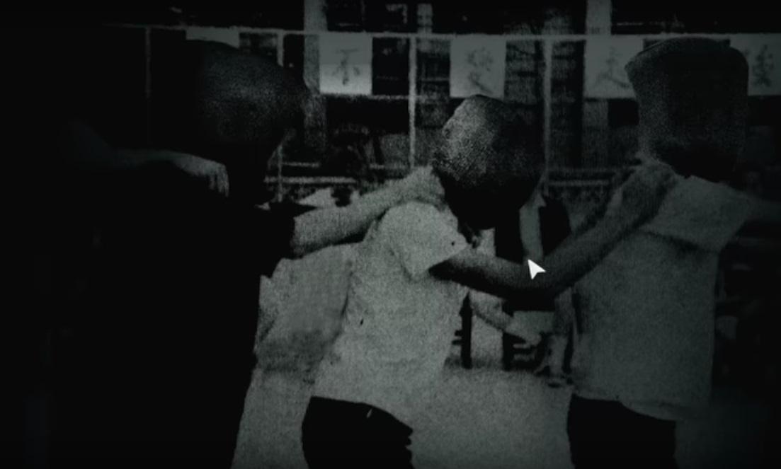 遊戲中政治犯的畫面。